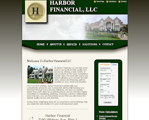 Harbor Financial LLC Website Design By The Computer Guy