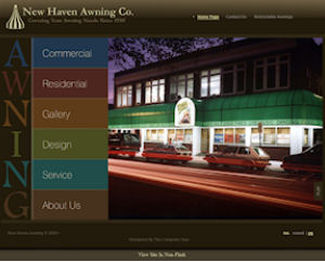 New Haven Awning Website Design By The Computer Guy