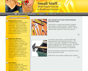 Small Stuff Home Improvement Website Design By The Computer Guy