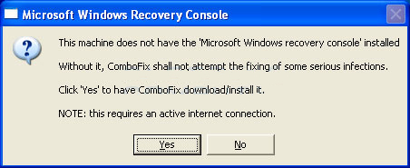 ComboFix Recovery Console